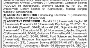SNDT University Recruitment 2015 Professor Principle Posts Online Apply form