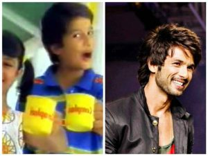 Shahid Kapoor then and now