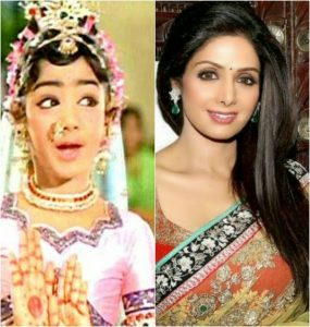 Sridevi then and now