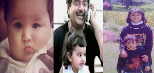 Sonakshi Sinha Baby Pictures Childhood family pictures with fathe r