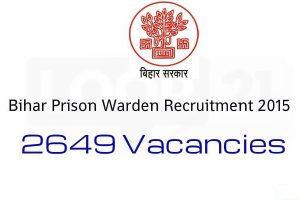 Bihar Jail Prison Warden Jobs 2015 Apply Online Form Download