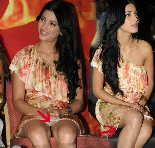 Shruti Hassan Wardrobe Malfunction Pictures Is It Publicity Stunt 03