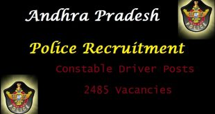 AP Police Driver Constable Recruitment 2015 Government Jobs Notification Application Form Free Download