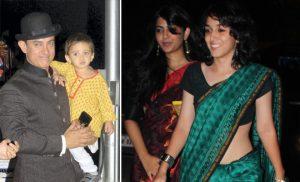 Aamir Khan young daughter and small child kids