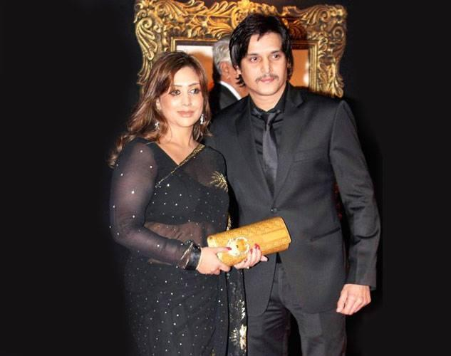 Jimmy Shergill with his wife in Black dress