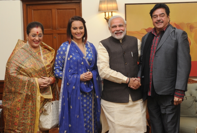 Sonakshi Sinha family with PM