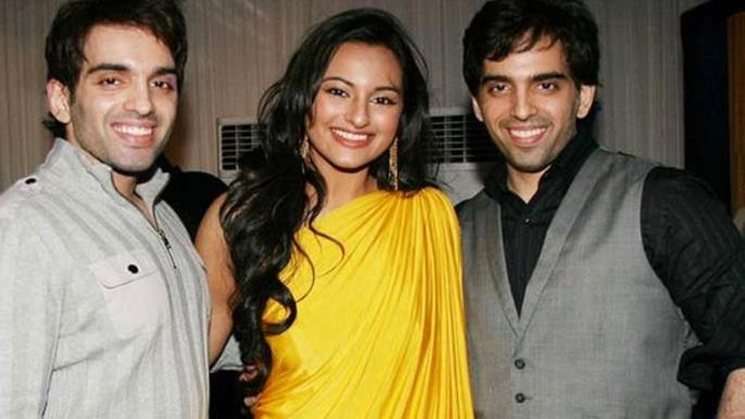Sonakshi Sinha with her twin brothers