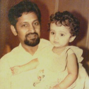 Trisha Krishnan Childhood pictures with Father