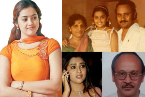 meena actress father and childhood pictures