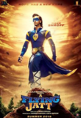 A Flying Jatt Release Date First Look Poster Desi Superhero