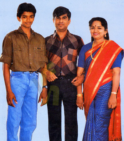 Actor Vijay Father, Mother in Childhood Pictures