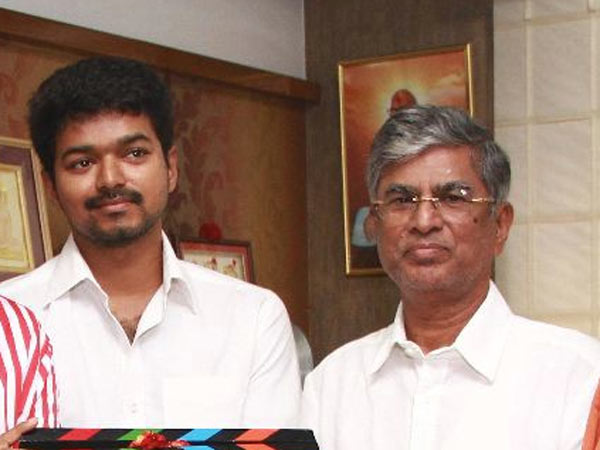 Actor Vijay with Father