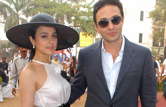 Preity Zinta With Boyfriend