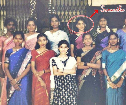 Samantha Ruth Prabhu School life pictures with friends