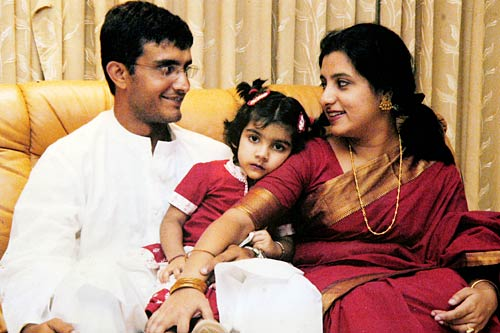 Sourav Ganguly wife and daughter
