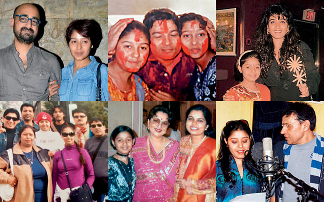 Sunidhi Chauhan Family Group Photos