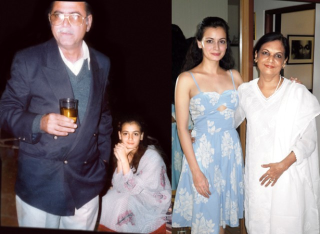 dia mirza Stepfather Ahmed Mirza