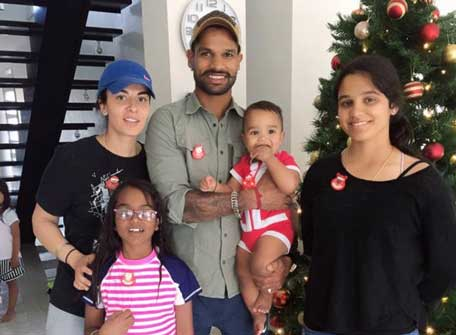 cricketer shikhar dhawan family photos, wife, children