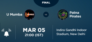 Pro Kabaddi League PKL 2016 Final Live On Star Sports 3, 2, HD 3