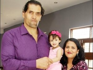The Great Khali Family Photos, wife and Daughter