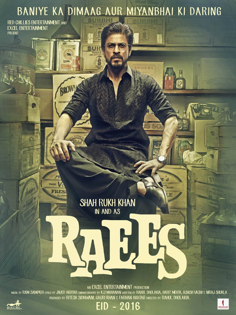 Shahrukh khan New Movie Raees Posters