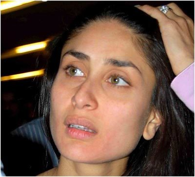 Top Bollywood Actresses Without Makeup Pictures, Kareena Kappor