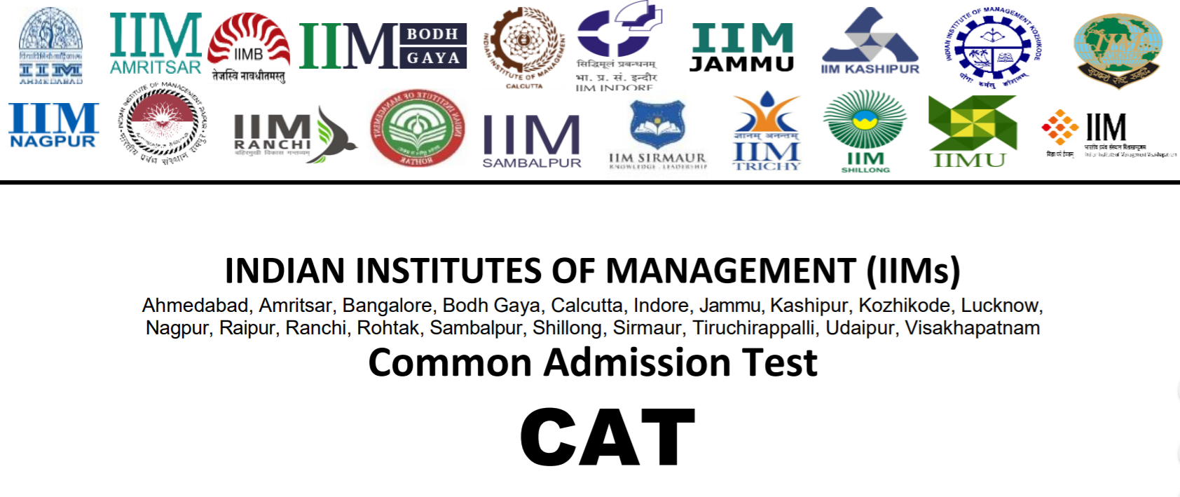 CAT 2019 Registration, Application Form, Exam Dates, Pattern, Syllabus, Last Date